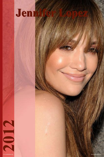 Jennifer Lopez Calendar 2012