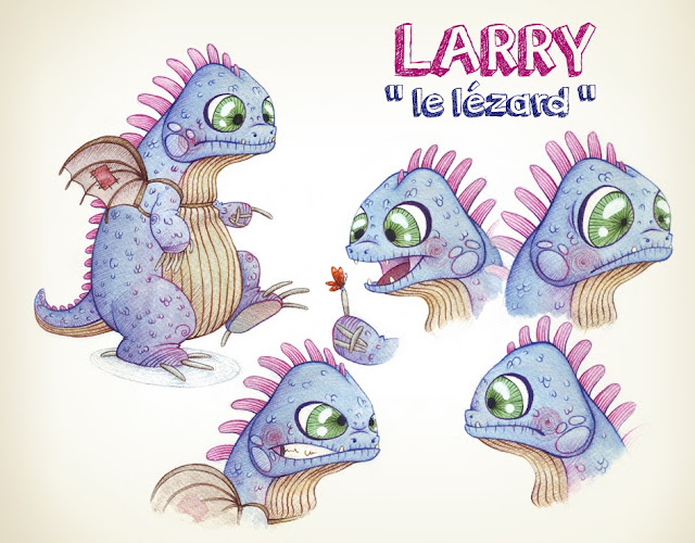 Larry le lézard dragon