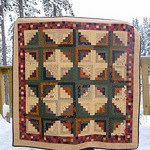 Kansas Winter Log Cabin Quilt