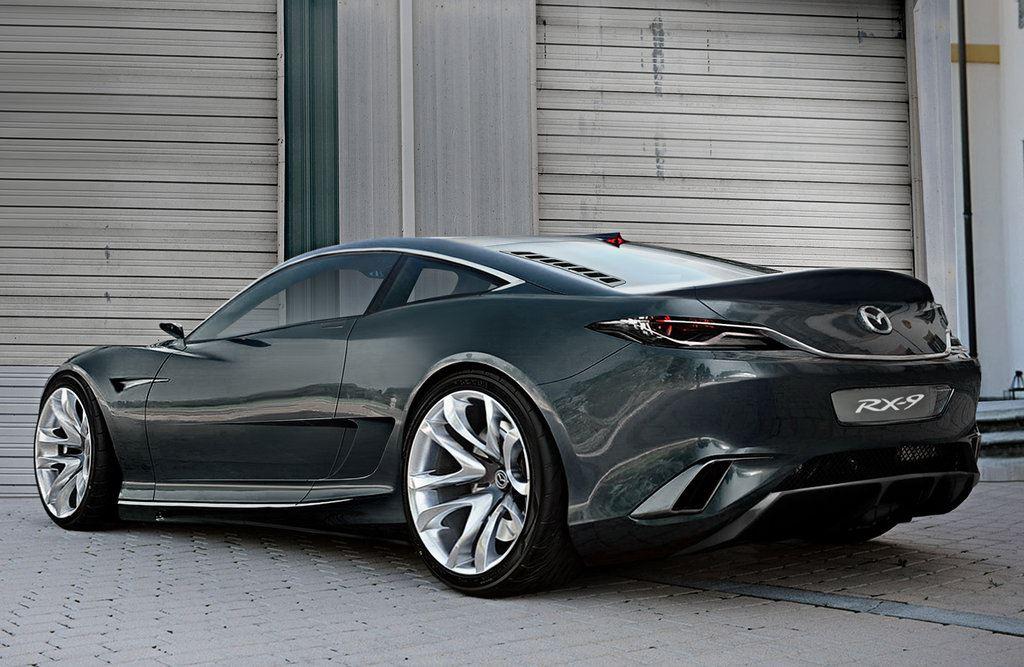 Mazda, nieoficjalny render, coupe, japoński, sportowy samochód, wankel, rotary, RWD, design, rx-7, rx-9, następca