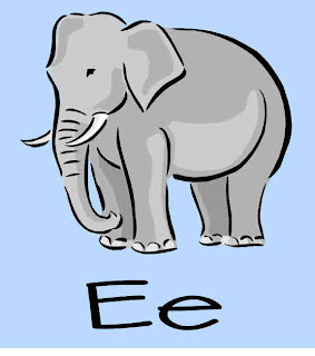 Alphabet Crafts  - Letter E alphabet activities for preschoolers