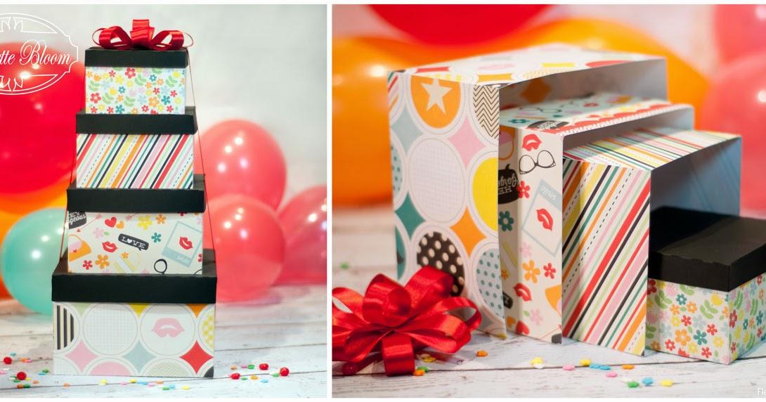 Fleurette Bloom : Nesting Gift Box SVG Collection By: Fleurette