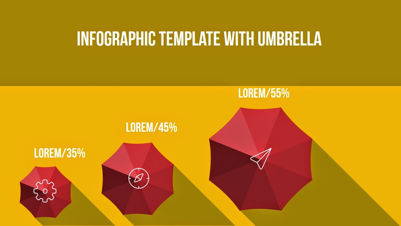 Free infographic powerpoint template with umbrella and long shadow umbrella and long shadow toneelgroepblik Images