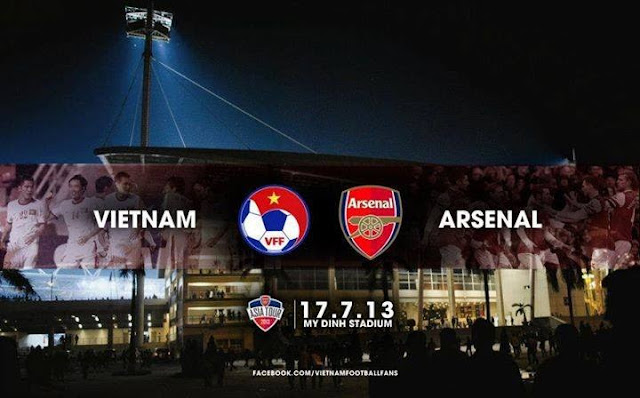 Pertandingan Vietnam vs Arsenal Friendly Match (Rabu, 17 Juli 2013)
