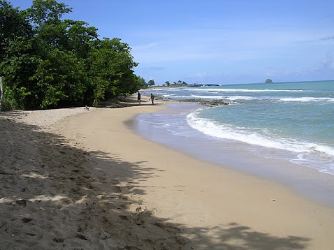 La plage en face de la maison