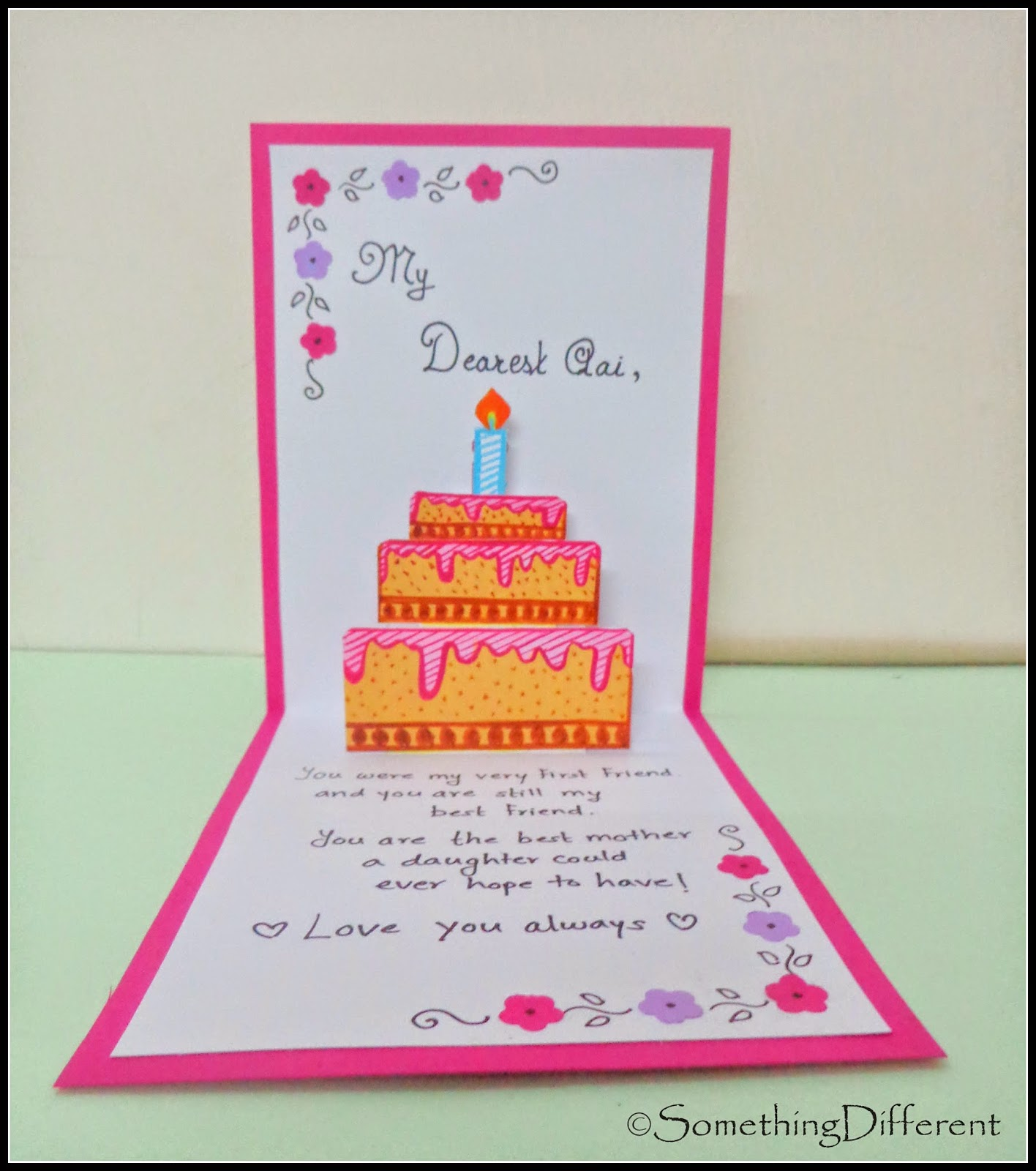 Something different 3 d pop up birthday card happy birthday mom here goes the tutorial bookmarktalkfo Choice Image