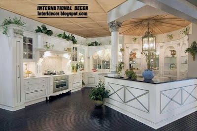 neoclassical kitchen style 2015 designs and ideas, white kitchen cabinets