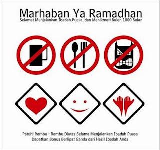 Gambar Hal yang dilarang dan dianjurkan dalam Bulan Suci Ramadhan, hal yang dapat membatalkan puasa atau tidak