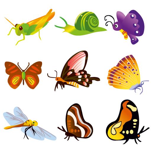 Vector de insectos y otros bichitos