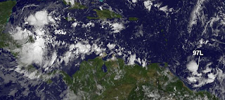 Atlantik, Karibik, Sean, Rina, aktuell, Satellitenbild Satellitenbilder, Oktober, 2011, Hurrikansaison 2011,