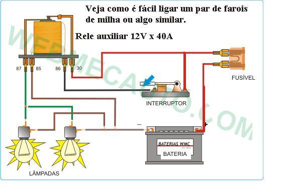 Eletr 244 Nica Free Circuits Como Ligar Um Farol De Milha Ou