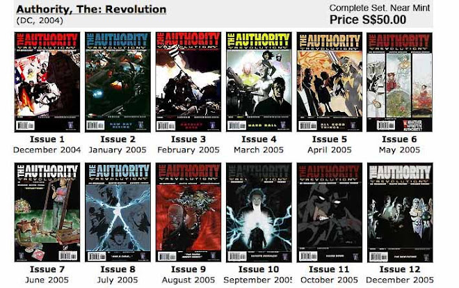The Authority: Revolution #1 ~ 12 Complete Set