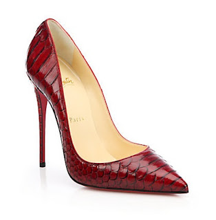 Christian Louboutin So Kate Pumps in red python
