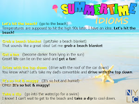 Summertime idioms