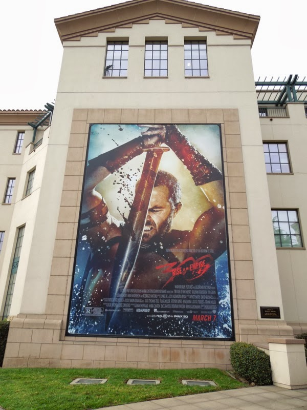 300 Rise of an Empire movie billboard Warner Bros Studios