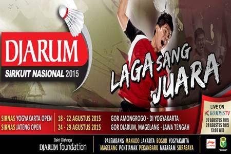 Jadwal dan Nonton Djarum Sirkuit Nasional Li Ning 2015 di 10 Kota Indonesia Live Streaming di Kompas TV -www.heru.my.id