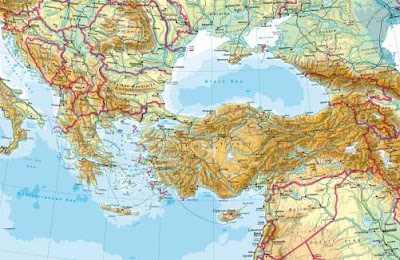 Southern Europe Physical Maps