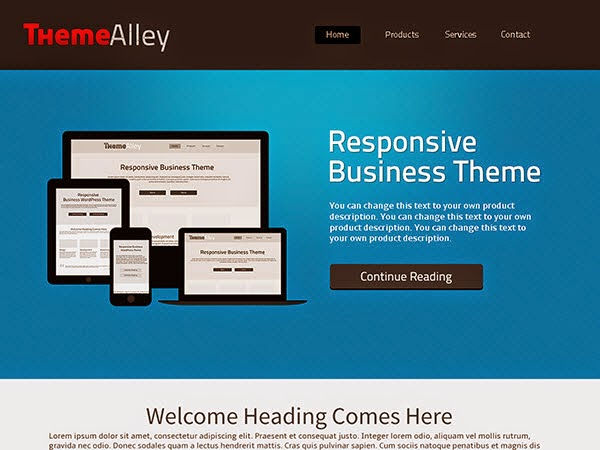Alexandria Free Portfolio WordPress theme