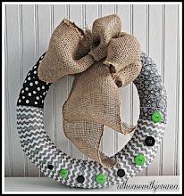 Fabric Button Wreath