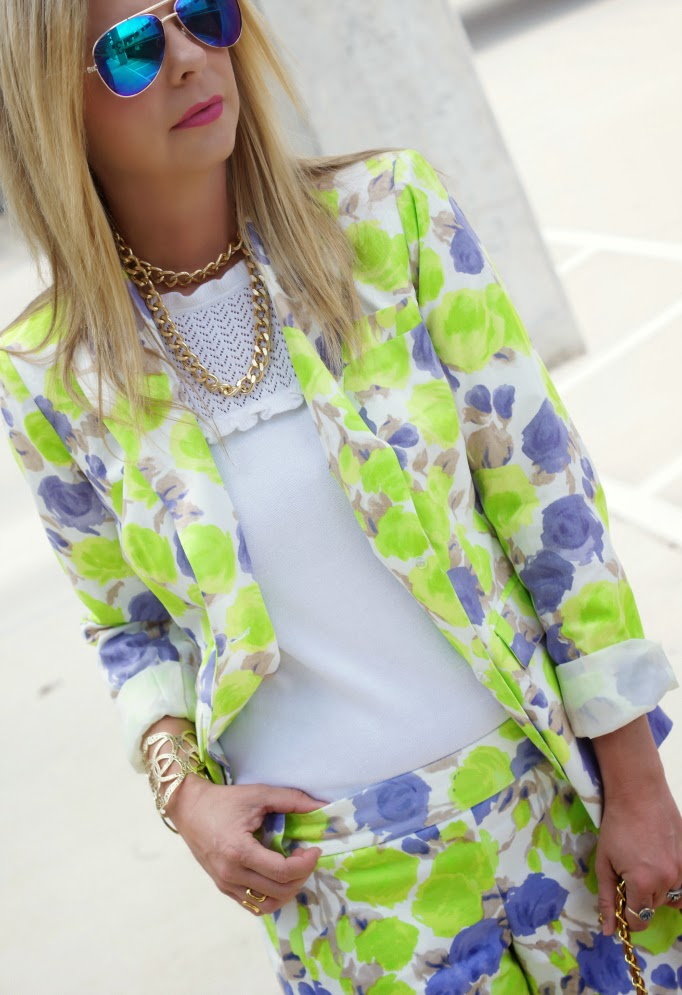 J Crew Printed Blazer and Shorts