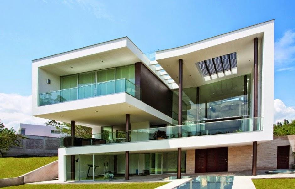 Fachadas de casas com vidro: incolor, verde, azul, fumê, espelhado ...