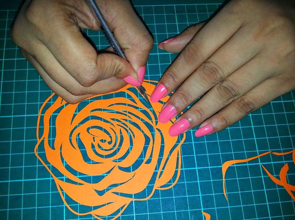 Paper Cut Rose