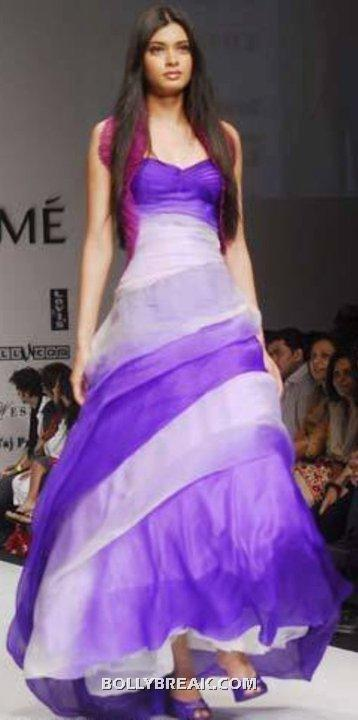 Diana Penty in purple dress - (22) - Diana Penty Hot Pics - Model Ramp Walk Fashion Show