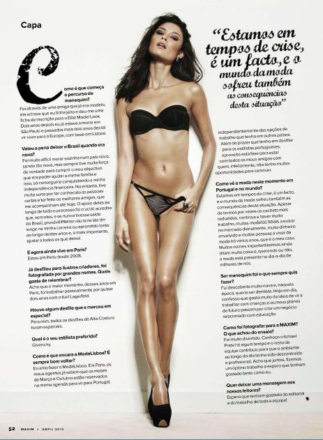 Fotos Milena Cardoso - Maxim Abril 2013