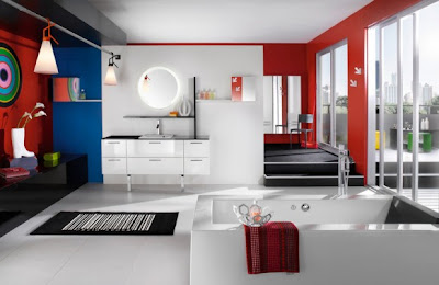 Bright colors for bathrooms