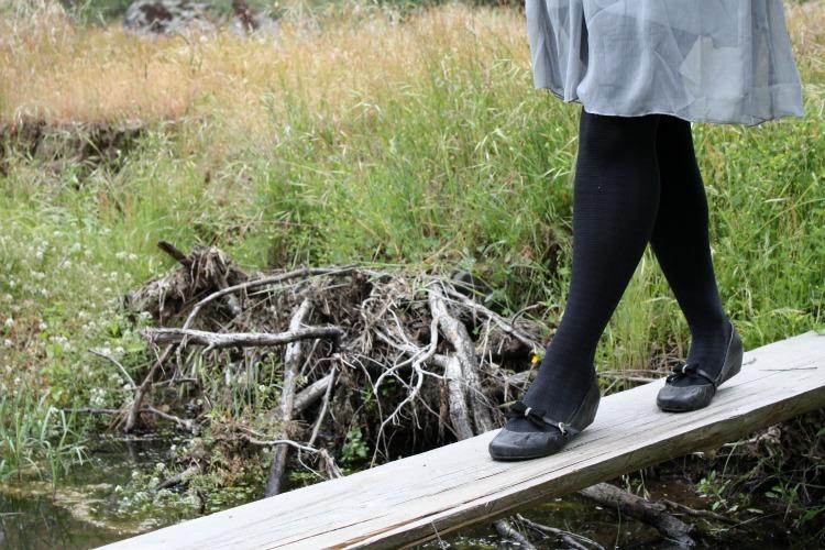 black maryjane flats vintage shoe clips bridge