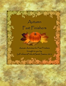 Autumn Fast Finishers Spanish Lesson Bulletin Board Set