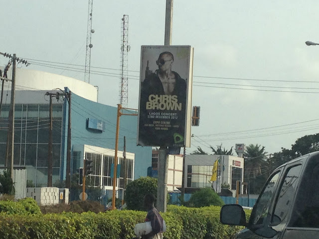 Chris Brown Lagos Concert Poster