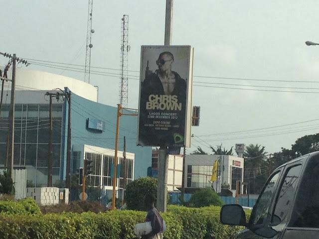 Chris Brown Lagos Concert Poster