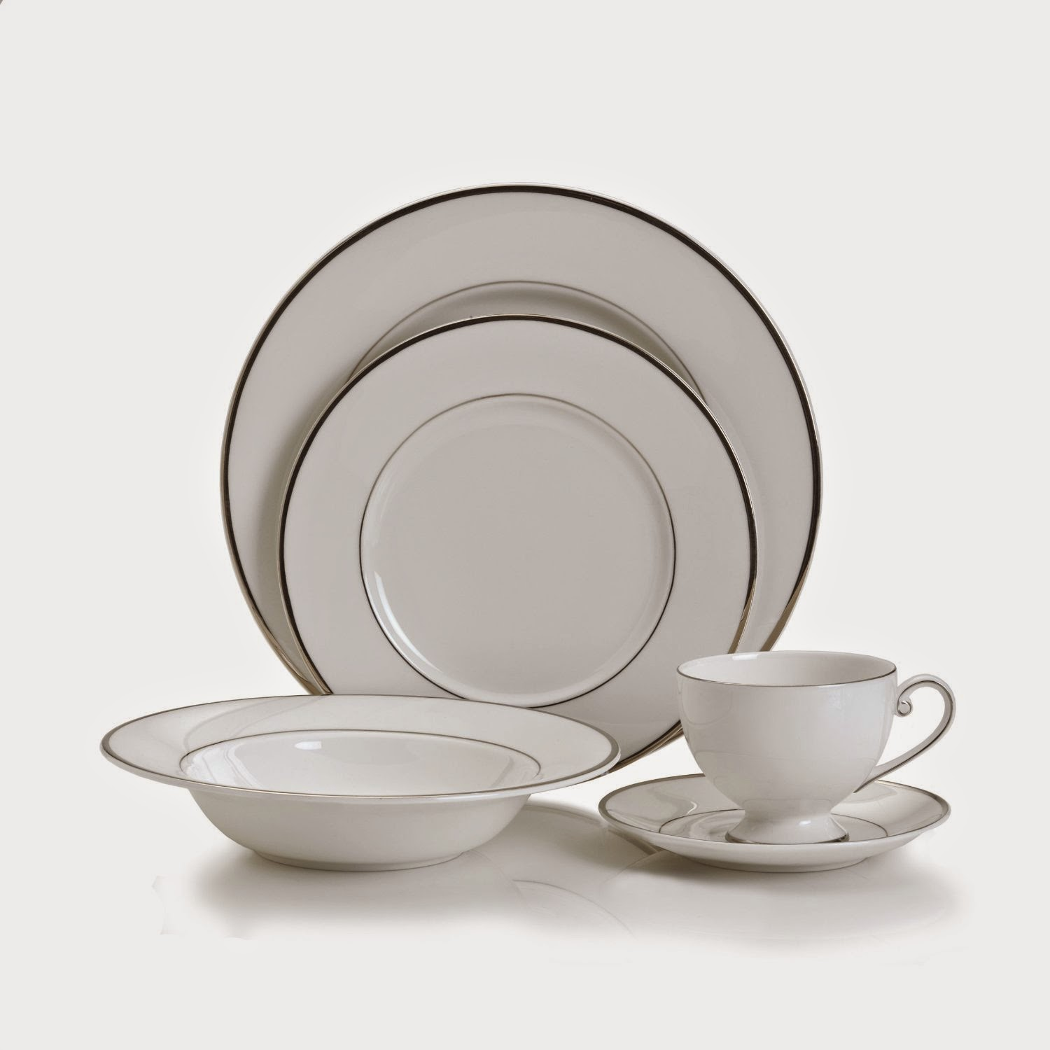Mikasa Cameo Platinum 40-Piece Dinnerware Set Service for 8 White  sc 1 st  The Dinnerware Shop & Mikasa Cameo Platinum 40-Piece Dinnerware Set Service for 8 White ...