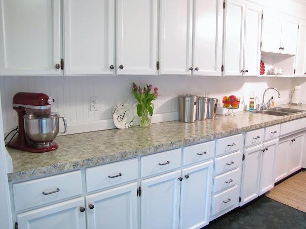 Kitchen with Beadboard Backsplash