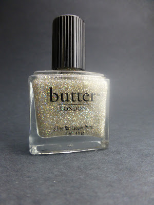 Meet butterLONDON Fairy Cake, that crazy-gorgeous, full-coverage, silvery multi-color micro knock-your-socks-off glitter polish.