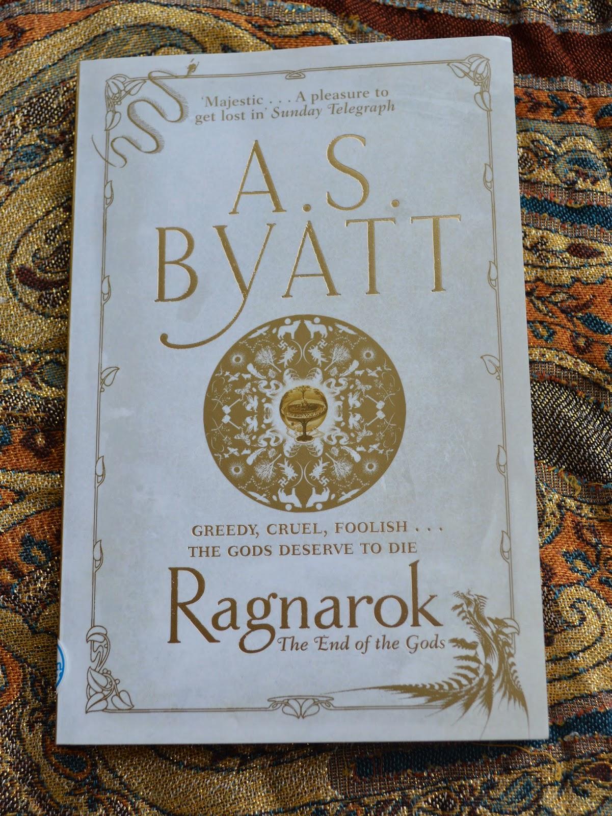 A.S Byatt, canongate, The End of the Gods, Ragnarok, Loki, Thor, Odin, battle, book review, paperback, brilliant, good read,  honest, literature, novella, myth, Norse, mythology, nordic