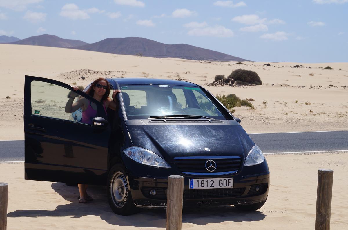 mercedes clase a, playas fuerteventura, parque de las dunas, corralejo