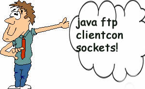java ftp clientcon sockets!