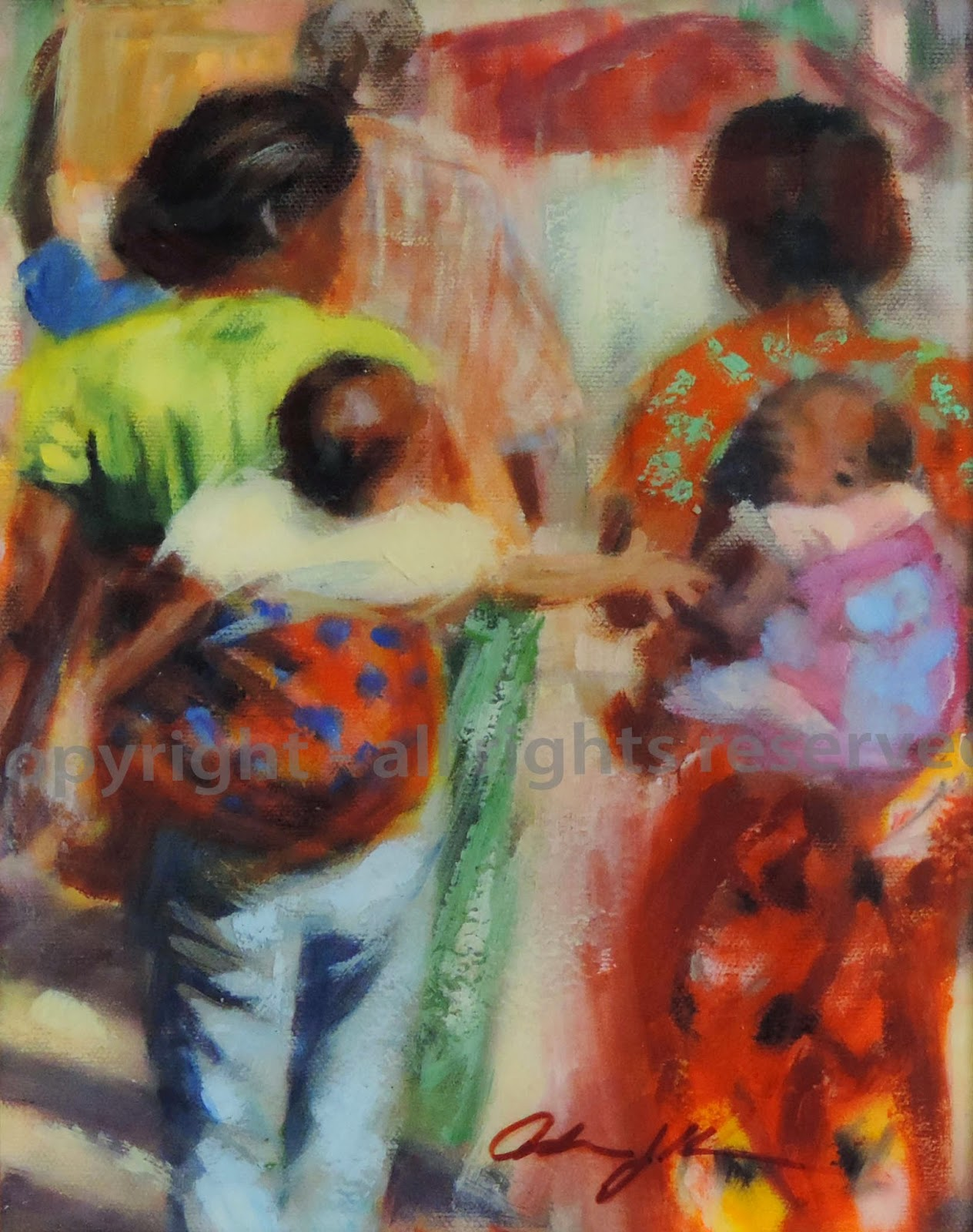 Babies, oil painting by Adrienne kralick