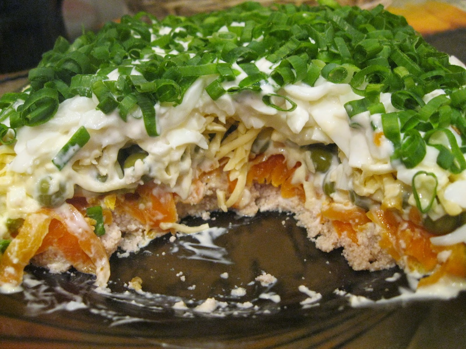 Рецепт салата с печенью трески пошагово