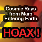 Cosmic Rays from Mars Entering Earth