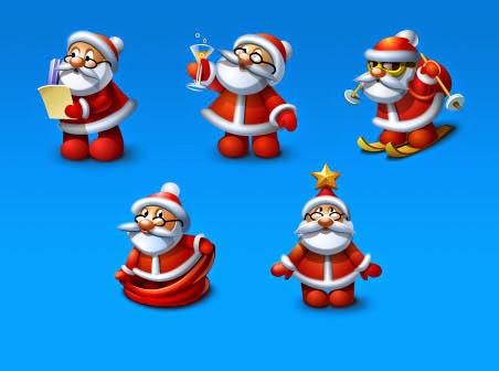 navidad santa iconos