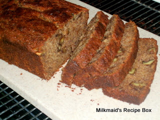 100% Whole Wheat Coconut Oil* Banana Bread