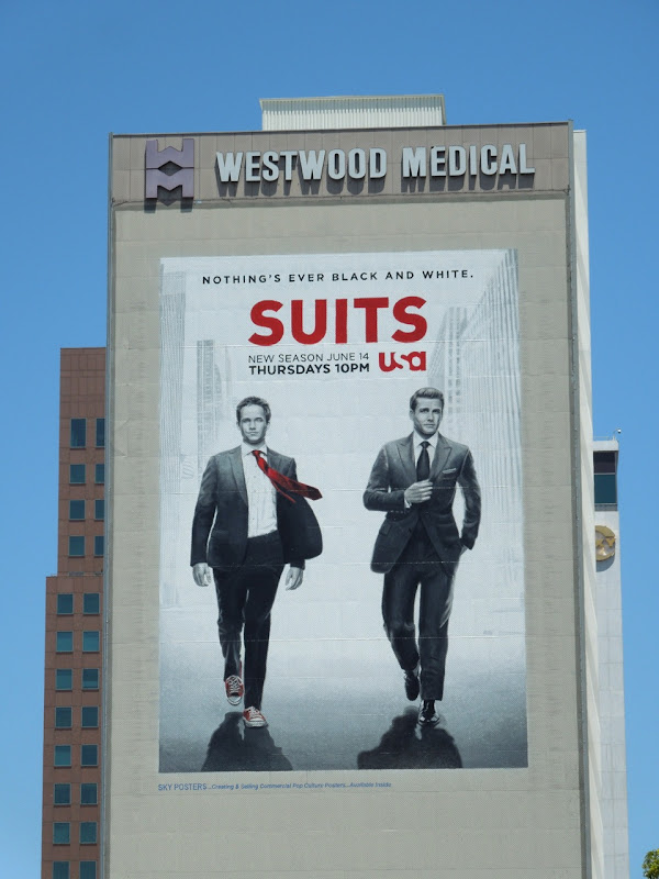 Giant Suits season 2 billboard Westwood