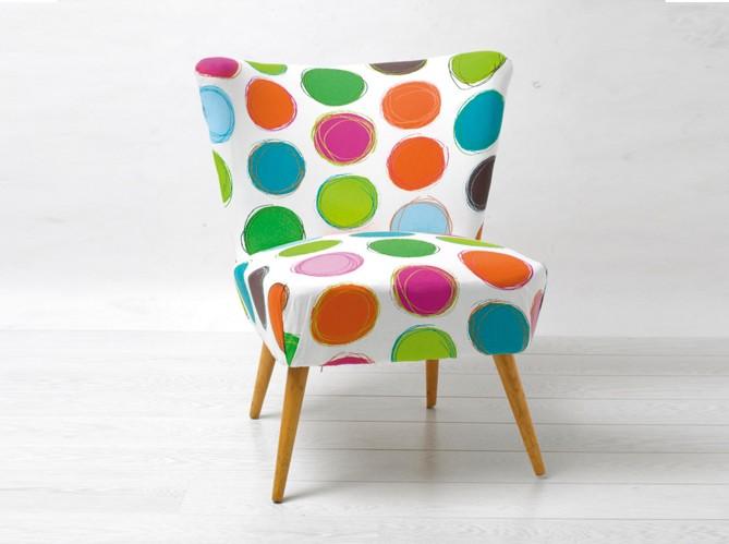 fauteuil pois pop chez mode et travaux - Fauteuil Colore