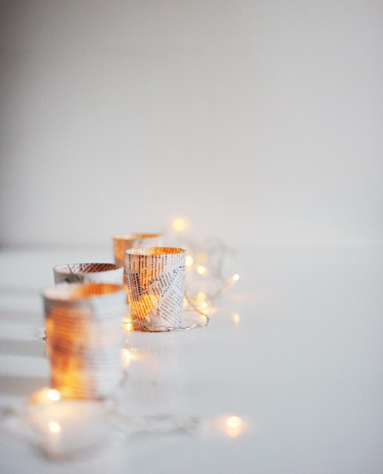 votives. twinkle lights. candles.