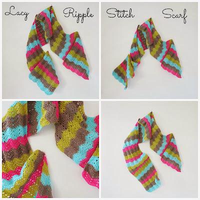 ByHaafner, crochet, ripple stitch, chevron, scarf