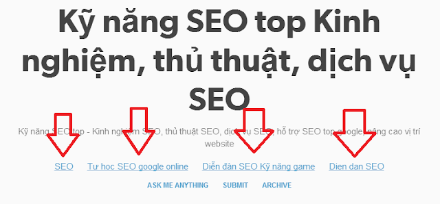 Cách đặt textlink dofollow not redirect trên Tumblr.