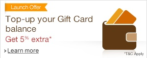 Top up your Gift Card balance & get 5% extra